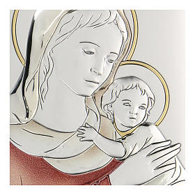 Bilaminate bas-relief Virgin Mary with Baby Jesus 11x8 cm s2