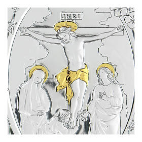 Bilaminate bas-relief Crucifixion of Jesus Christ 10x7 cm s2