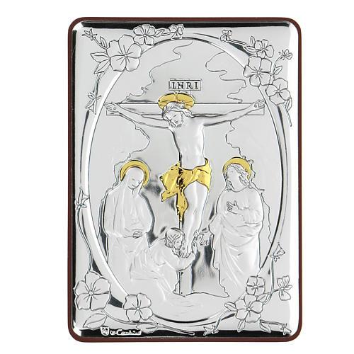 Bilaminate bas-relief Crucifixion of Jesus Christ 10x7 cm 1