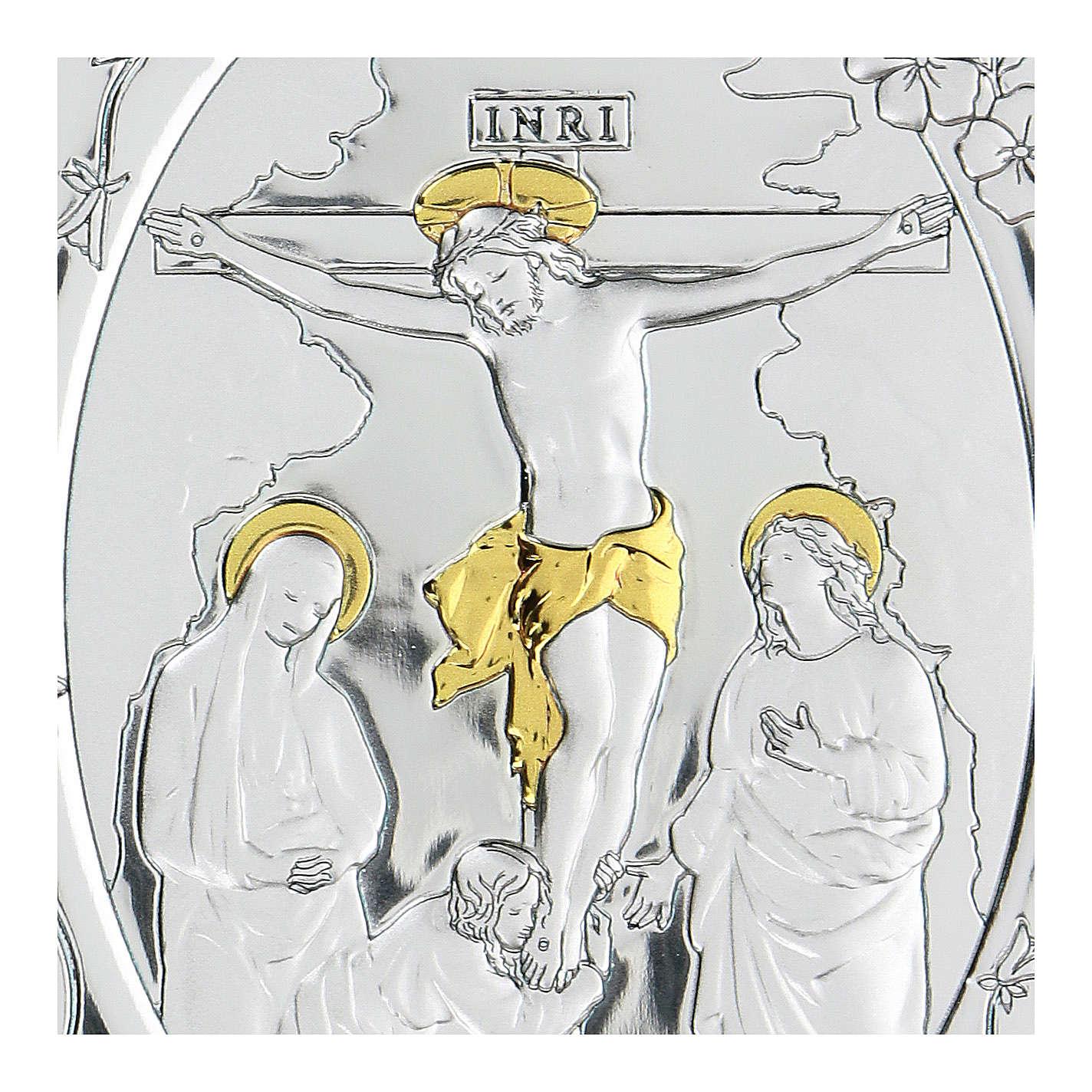 Bajorrelieve bilaminado Crucifixión Jesús Cristo 10x7 cm 4