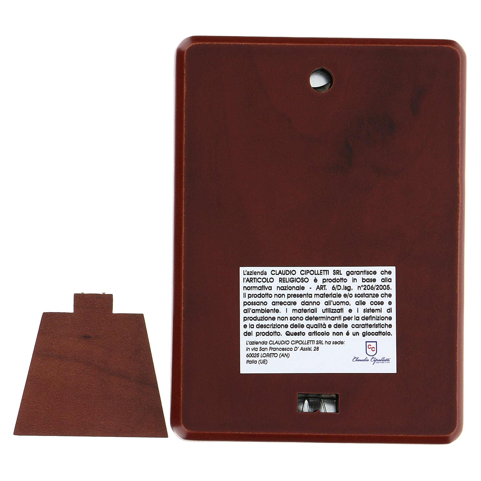Bassorilievo bilaminato Don Bosco 10x7 cm 4