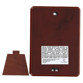 Bassorilievo bilaminato Don Bosco 10x7 cm s3