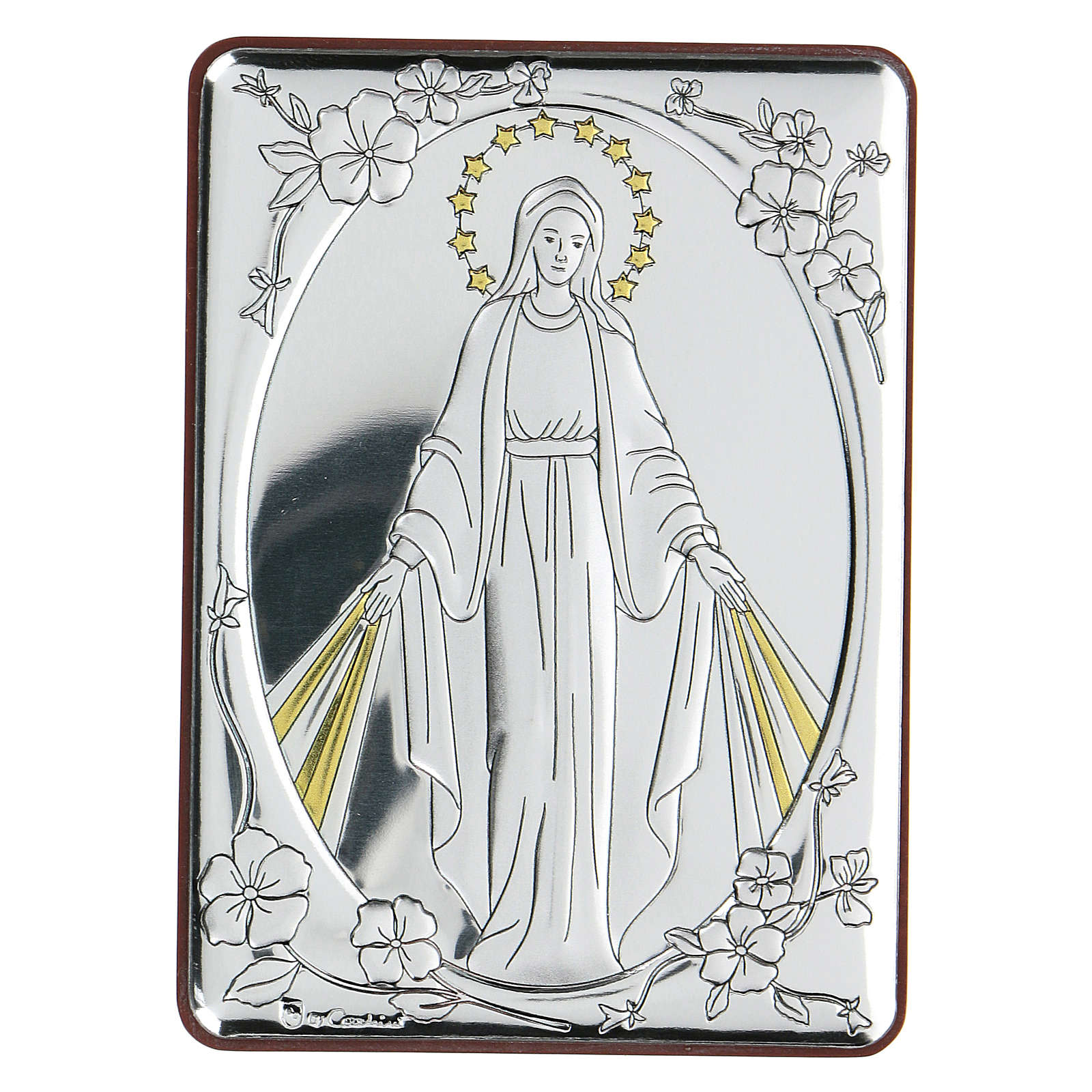 Bilaminate bas-relief Our Lady of Miracles 10x7 cm 4