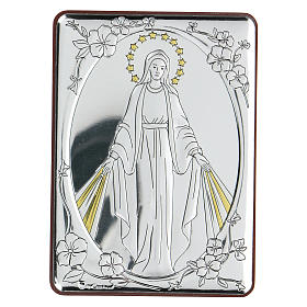 Bilaminate bas-relief Our Lady of Miracles 10x7 cm s1