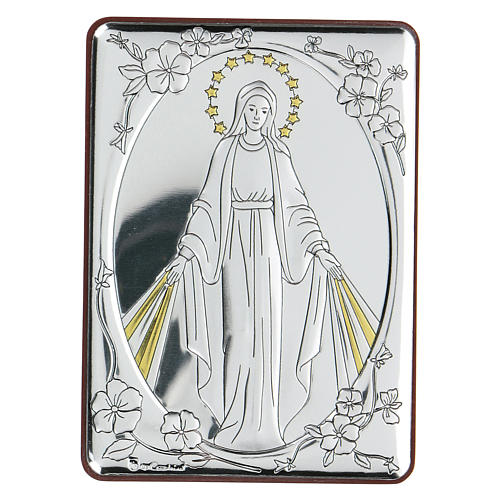 Bilaminate bas-relief Our Lady of Miracles 10x7 cm 1