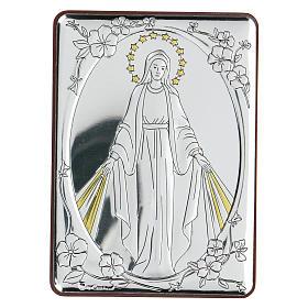Bajorrelieve bilaminado Virgen Milagrosa 10x7 cm s1