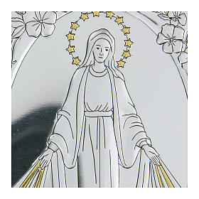 Bajorrelieve bilaminado Virgen Milagrosa 10x7 cm s2