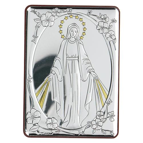 Bajorrelieve bilaminado Virgen Milagrosa 10x7 cm 1