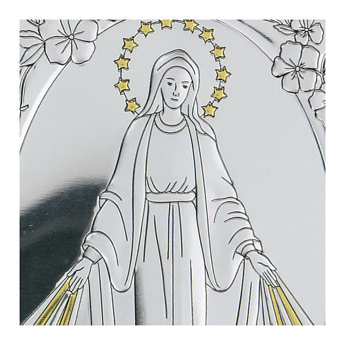 Bajorrelieve bilaminado Virgen Milagrosa 10x7 cm 2