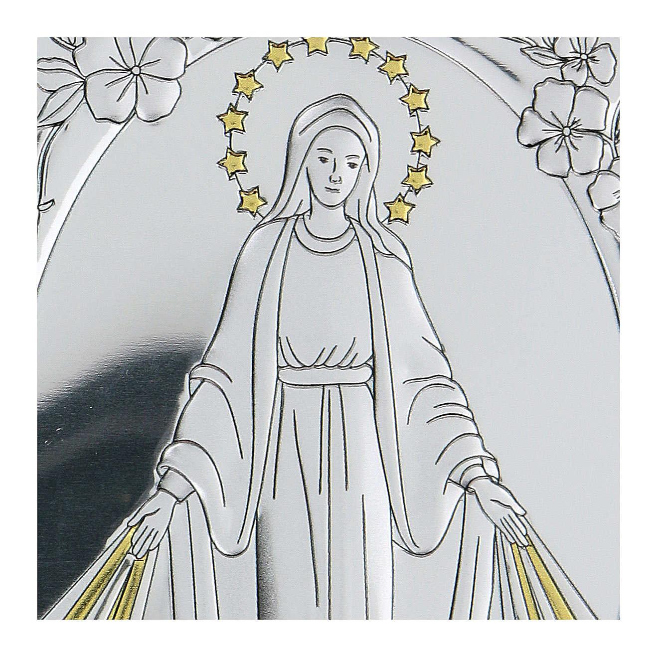 Bassorilievo bilaminato Madonna Miracolosa 10x7 cm 4