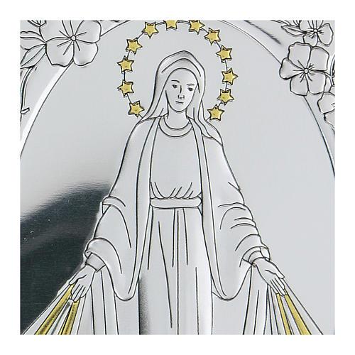 Bassorilievo bilaminato Madonna Miracolosa 10x7 cm 2