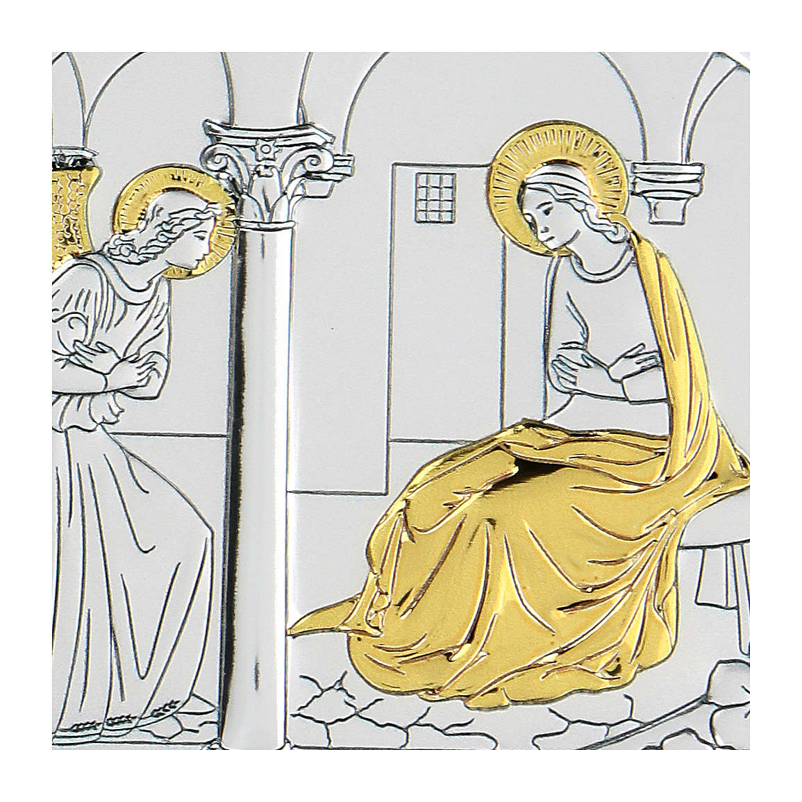 Bilaminate bas-relief Annunciation 10x7 cm 4