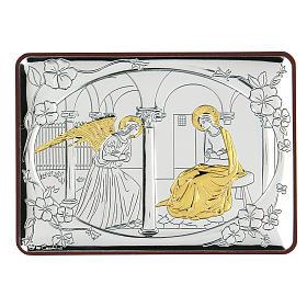 Bilaminate bas-relief Annunciation 10x7 cm s1