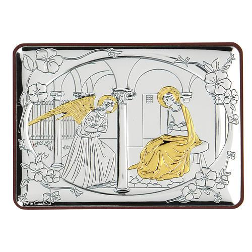 Bilaminate bas-relief Annunciation 10x7 cm 1