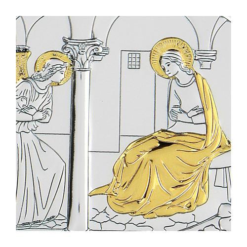 Bilaminate bas-relief Annunciation 10x7 cm 2
