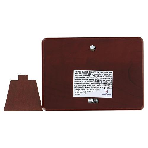 Bassorilievo bilaminato Beata annunciazione 10x7 cm 3