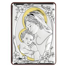 Bajorrelieve bilaminado María Virgen y Niño Jesús 10x7 cm s1