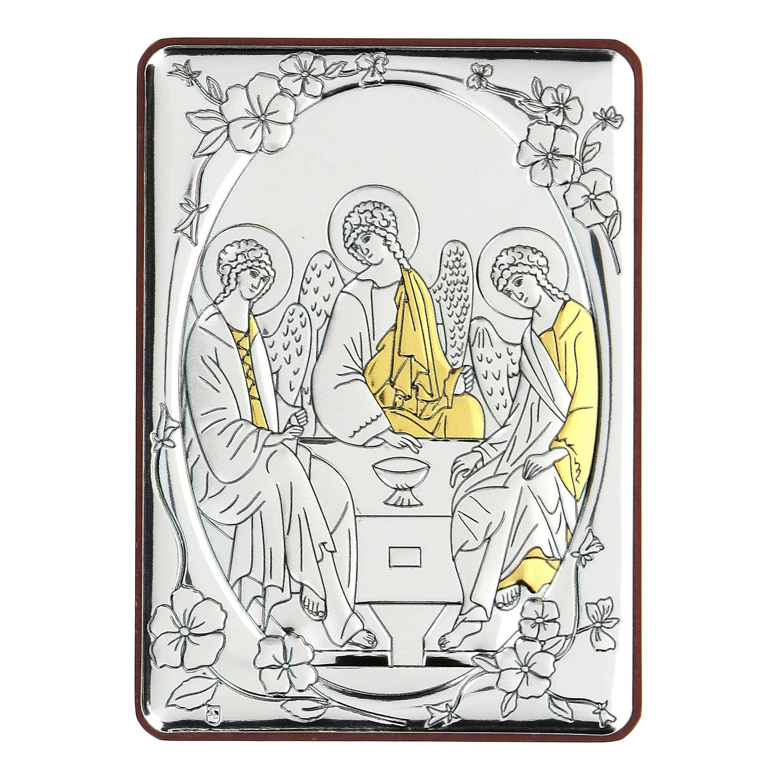 Bilaminate bas-relief Rubiev's Holy Trinity 10x7 cm 4