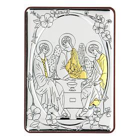 Bilaminate bas-relief Rubiev's Holy Trinity 10x7 cm s1