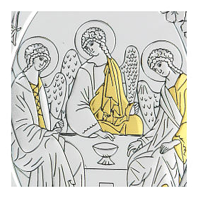 Bilaminate bas-relief Rubiev's Holy Trinity 10x7 cm s2