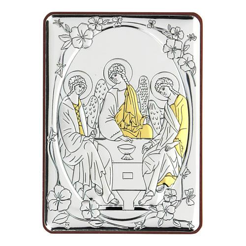 Bilaminate bas-relief Rubiev's Holy Trinity 10x7 cm 1