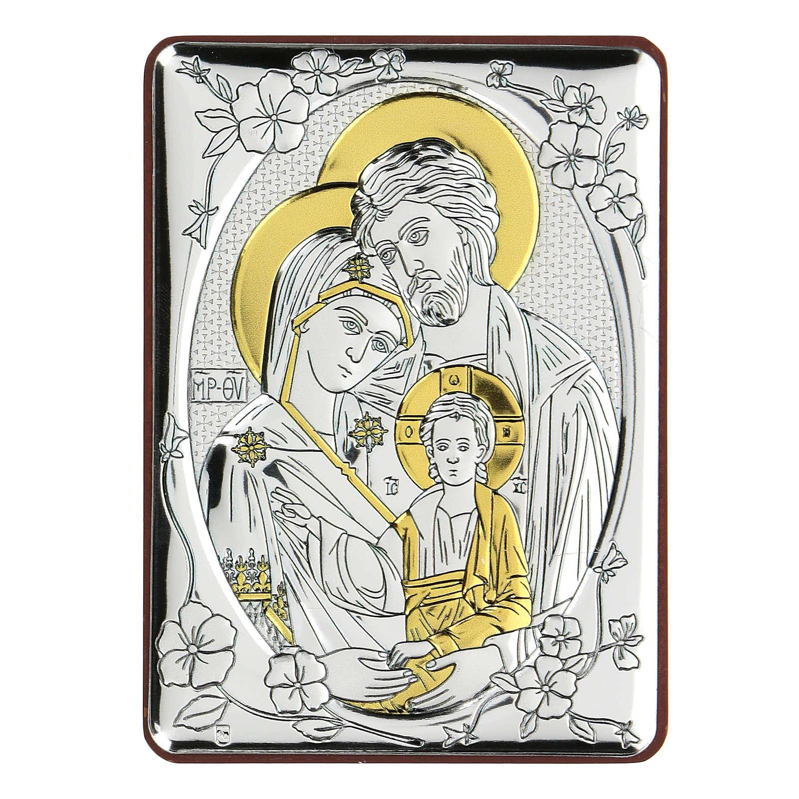 Bilaminate bas-relief Holy Trinity 10x7 cm 4