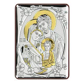 Bilaminate bas-relief Holy Trinity 10x7 cm s1