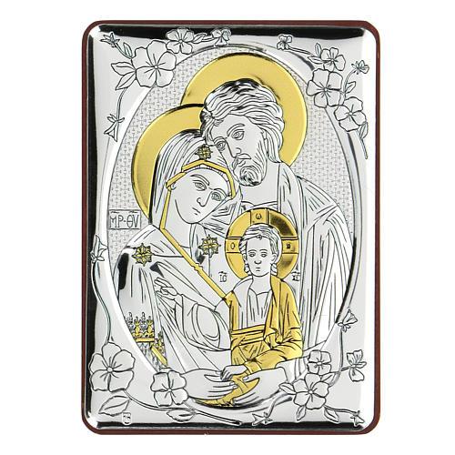 Bilaminate bas-relief Holy Trinity 10x7 cm 1