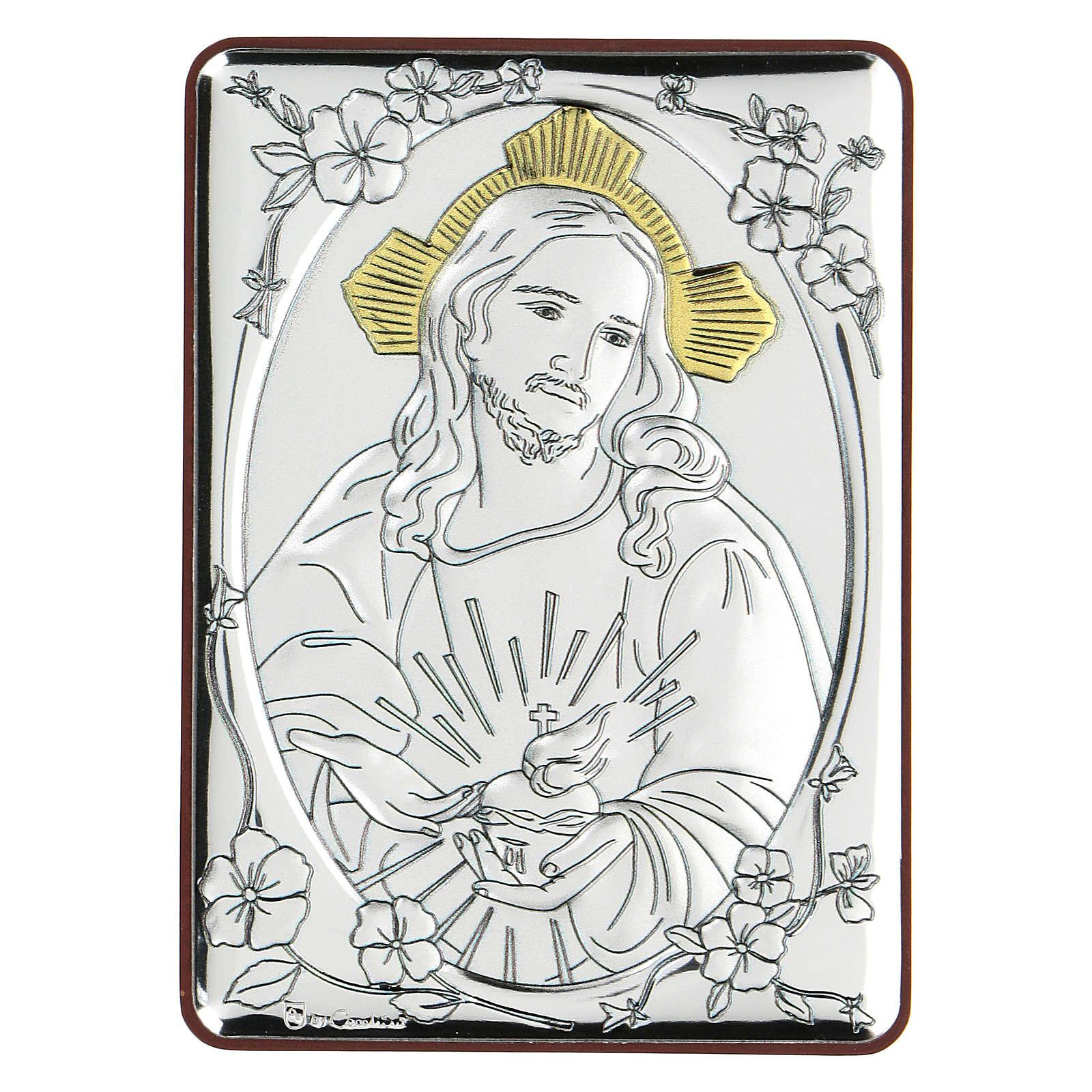 Bajorrelieve bilaminado Jesús Misericordioso 10x7 cm 4