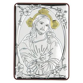 Bassorilievo bilaminato Gesù misericordioso 10x7 cm s1