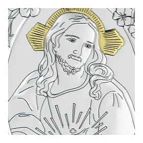 Bassorilievo bilaminato Gesù misericordioso 10x7 cm s2