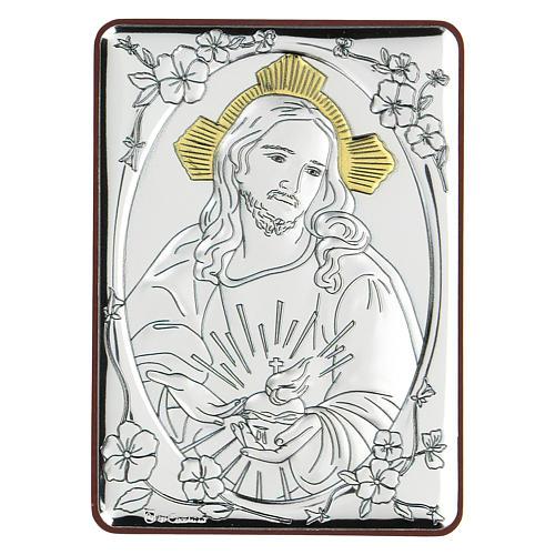 Bassorilievo bilaminato Gesù misericordioso 10x7 cm 1