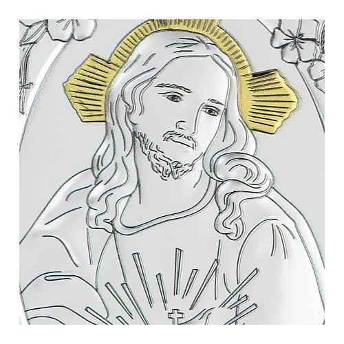 Bassorilievo bilaminato Gesù misericordioso 10x7 cm 2