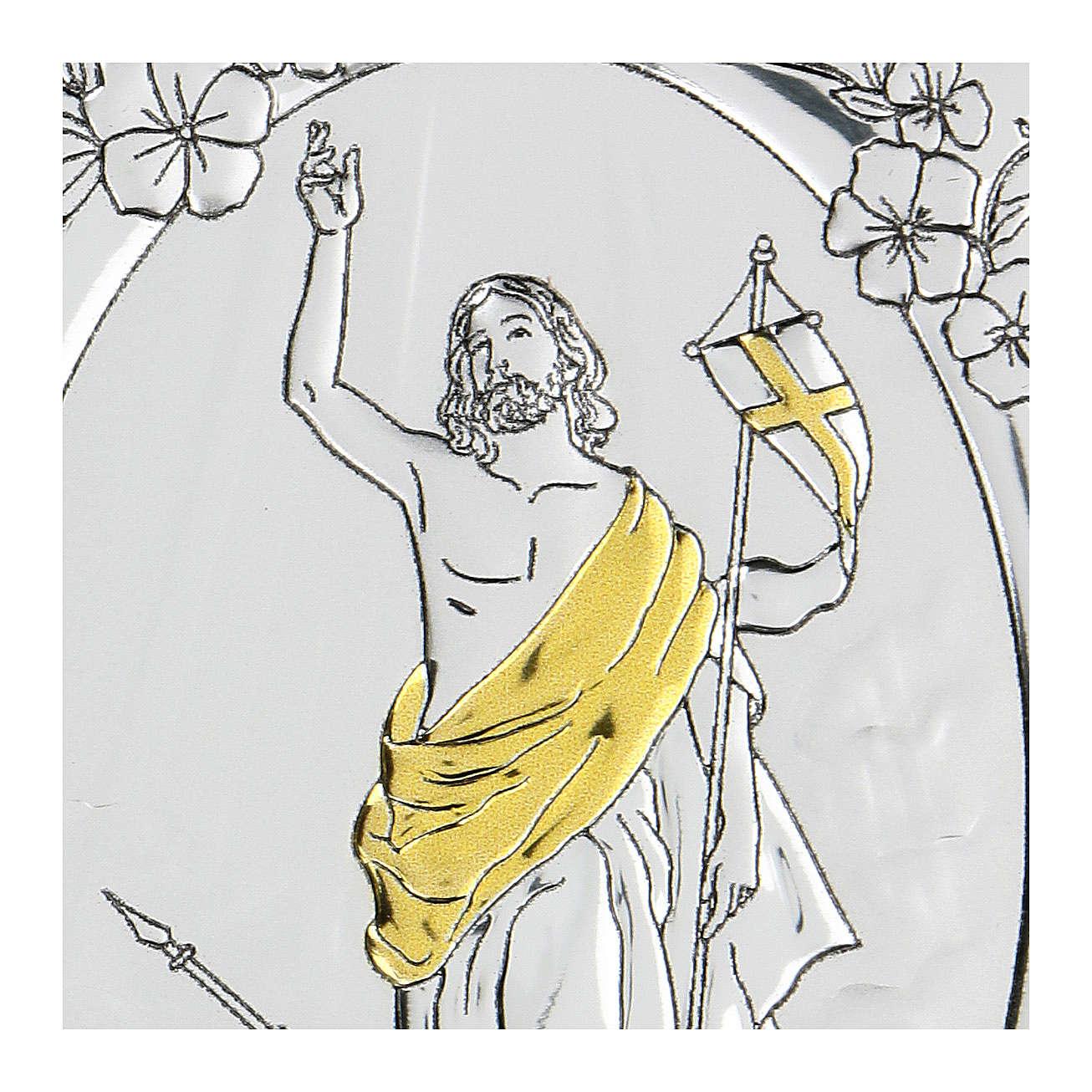 Bilaminate bas-relief Ascension of Jesus Christ 10x7 cm 4