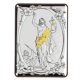 Bilaminate bas-relief Ascension of Jesus Christ 10x7 cm s1