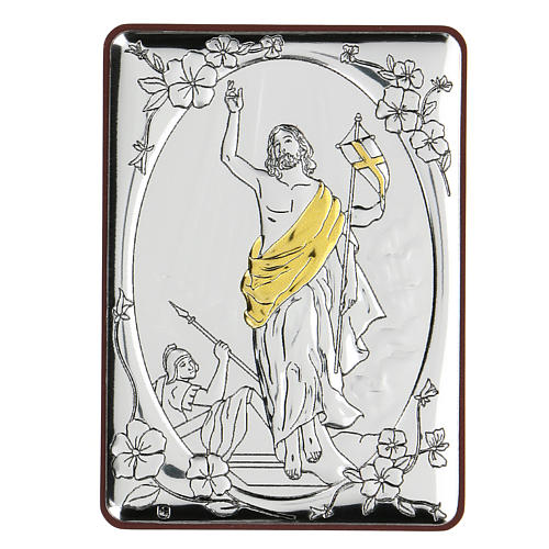Bajorrelieve bilaminado Ascensión de Jesús Cristo 10x7 cm 1