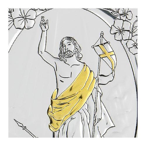 Bajorrelieve bilaminado Ascensión de Jesús Cristo 10x7 cm 2