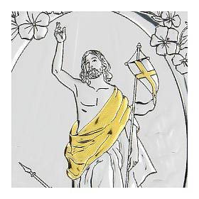 Bassorilievo bilaminato Ascensione di Gesù Cristo 10x7 cm s2