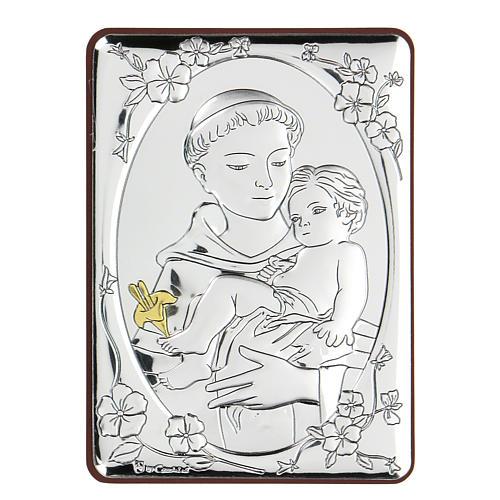 Bassorilievo bilaminato San Francesco con bambino 10x7 cm 1