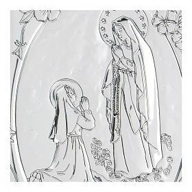 Bajorrelieve bilaminado oración Virgen de Lourdes 10x7 cm s2