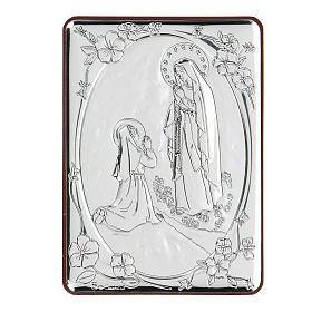 Bassorilievo bilaminato preghiera Madonna di Lourdes 10x7 cm s1