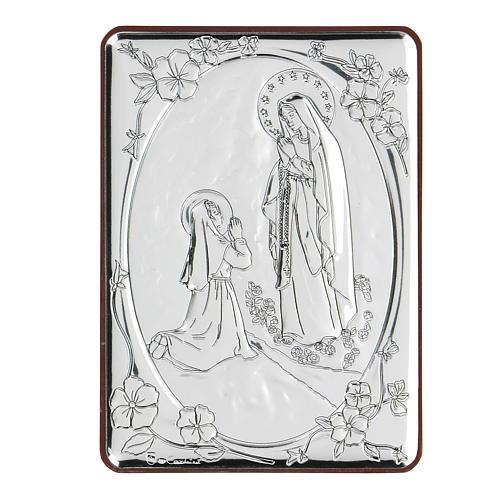 Bassorilievo bilaminato preghiera Madonna di Lourdes 10x7 cm 1