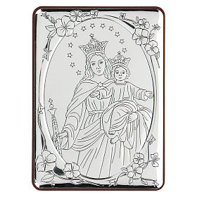 Bas-relief in bilaminate silver Our Lady of Succour 10x7 cm s1