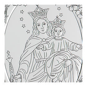 Bas-relief in bilaminate silver Our Lady of Succour 10x7 cm s2