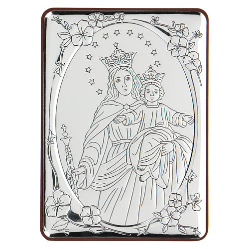 Bas-relief in bilaminate silver Our Lady of Succour 10x7 cm 1