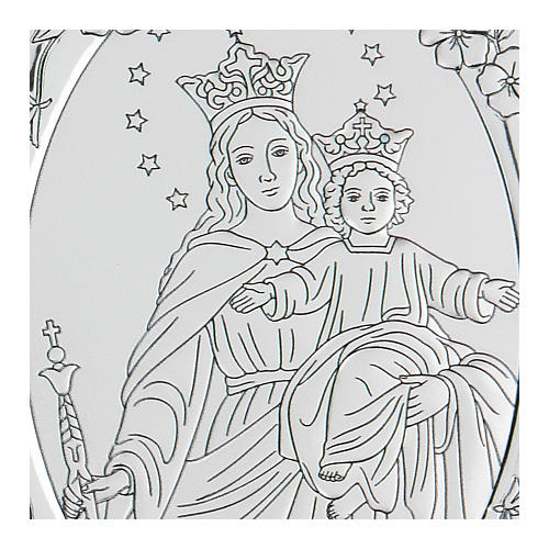 Bas-relief in bilaminate silver Our Lady of Succour 10x7 cm 2