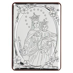 Bajorrelieve bilaminado María Auxiliadora 10x7 cm s1