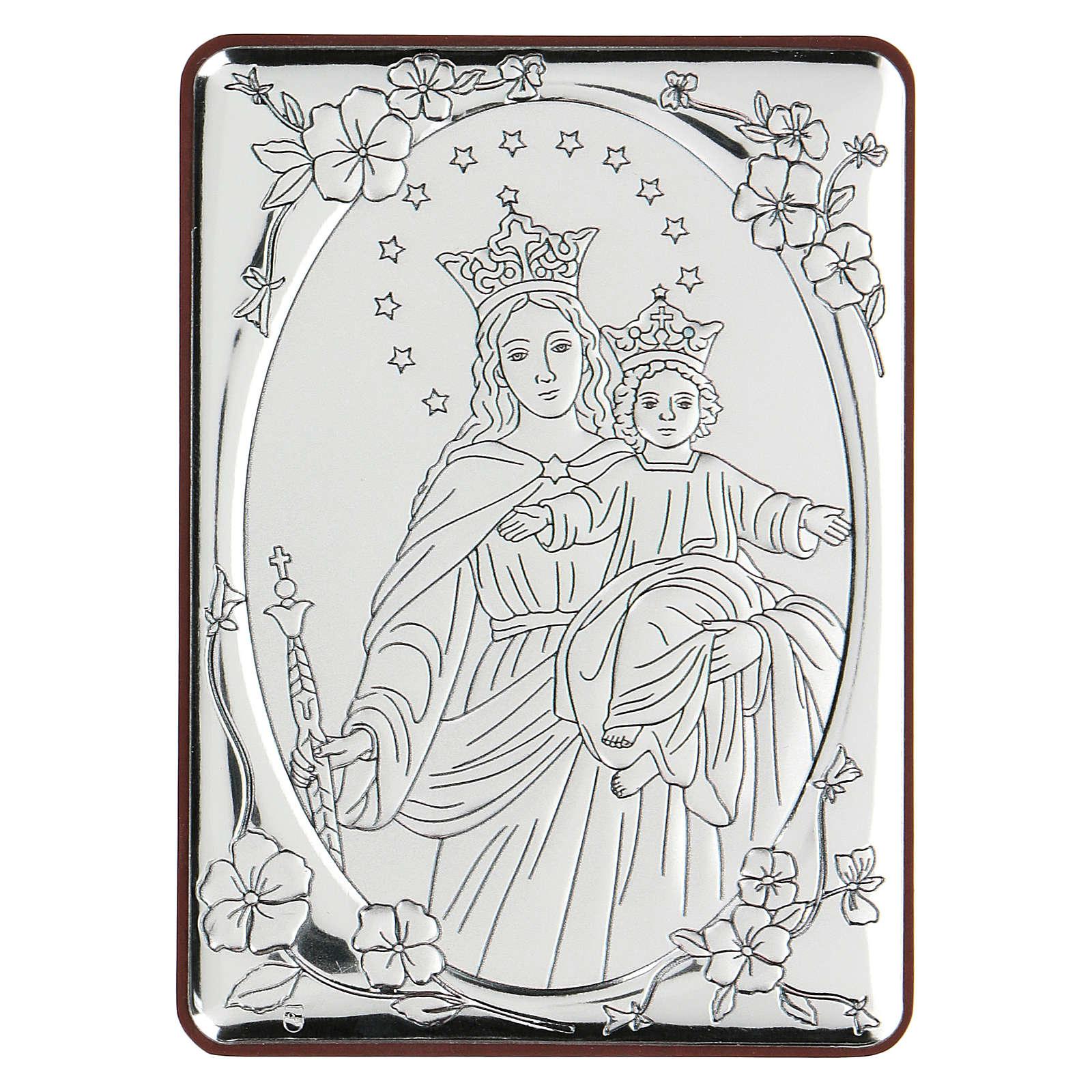 Bassorilievo bilaminato Maria Ausiliatrice 10x7 cm 4