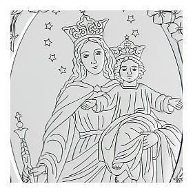Bassorilievo bilaminato Maria Ausiliatrice 10x7 cm s2