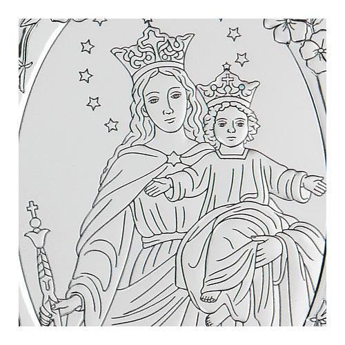 Bassorilievo bilaminato Maria Ausiliatrice 10x7 cm 2